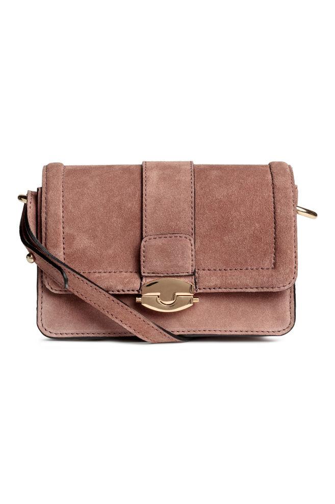 589f2cf1032e Замшевая сумка через плечо - Винтажный розовый - Женщины   H M ...