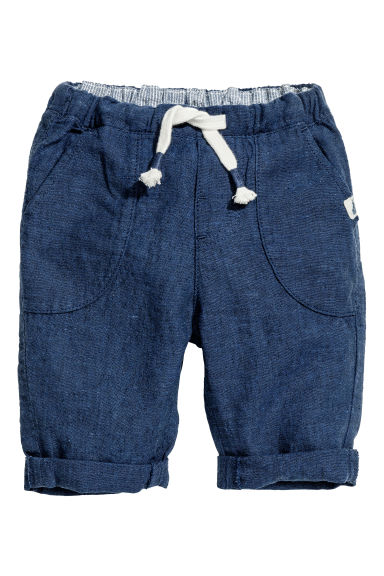 Pull-on trousers - Dark blue marl - Kids | H&M CN