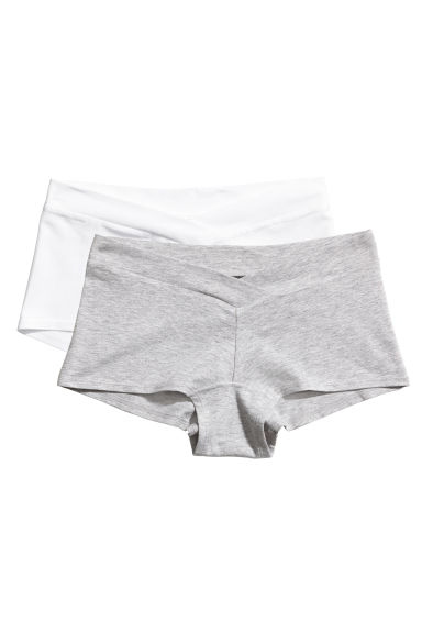 MAMA 2-pack shorts - Grey/White - Ladies | H&M IE