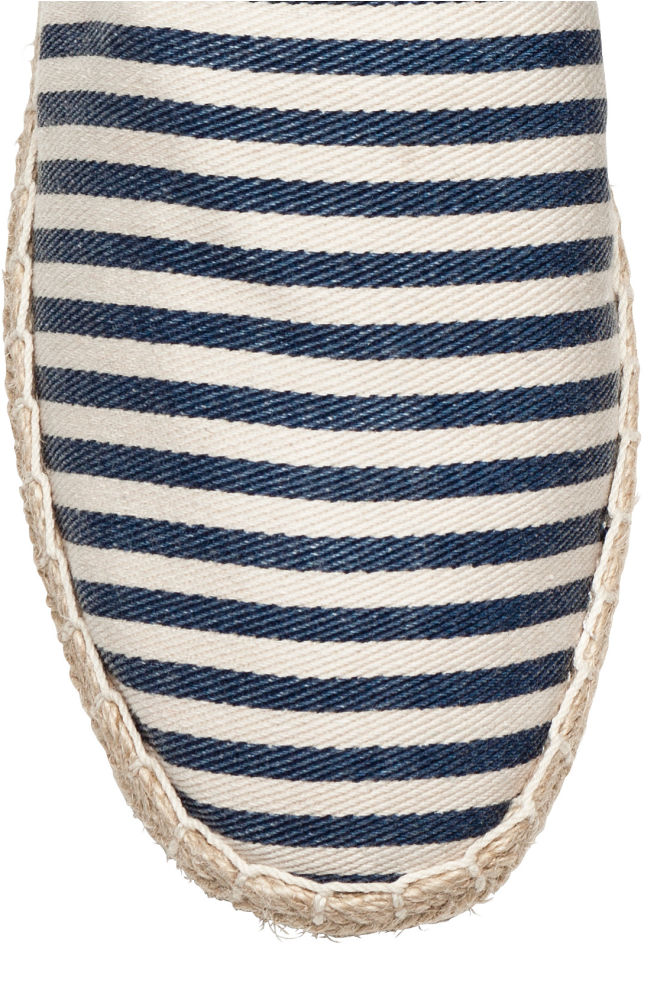 e53f001615d ... 에스파드리유 - 다크 블루/화이트 스트라이프 - Men | H&M ...