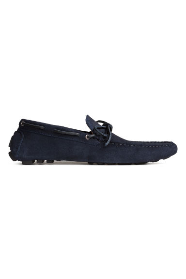 Suede moccasins - Dark blue - Men | H&M CN