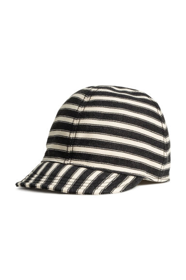 Striped cap - Dark grey/Striped - Kids | H&M IE