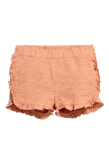 Frilled shorts - Apricot - Kids | H&M CN
