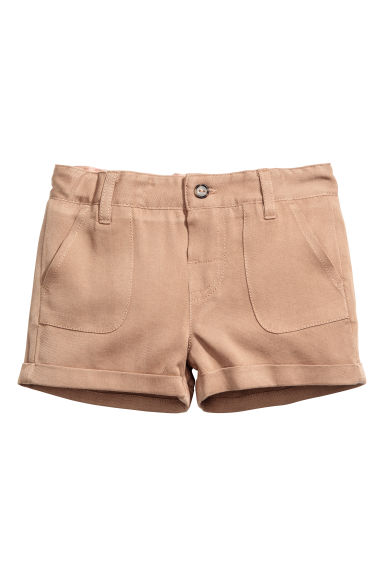 Lyocell-blend shorts - Beige -  | H&M GB
