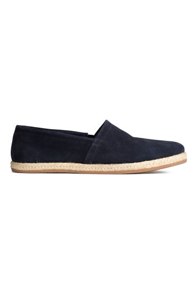 Suede espadrilles - Dark blue - Men | H&M CN