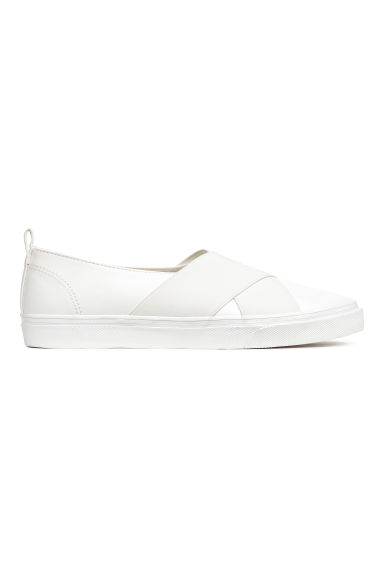 Slip-on sneakers - Wit -  | H&M NL