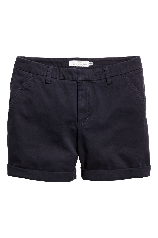 2a73883428 Cotton shorts - Dark blue - Ladies | H&M ...
