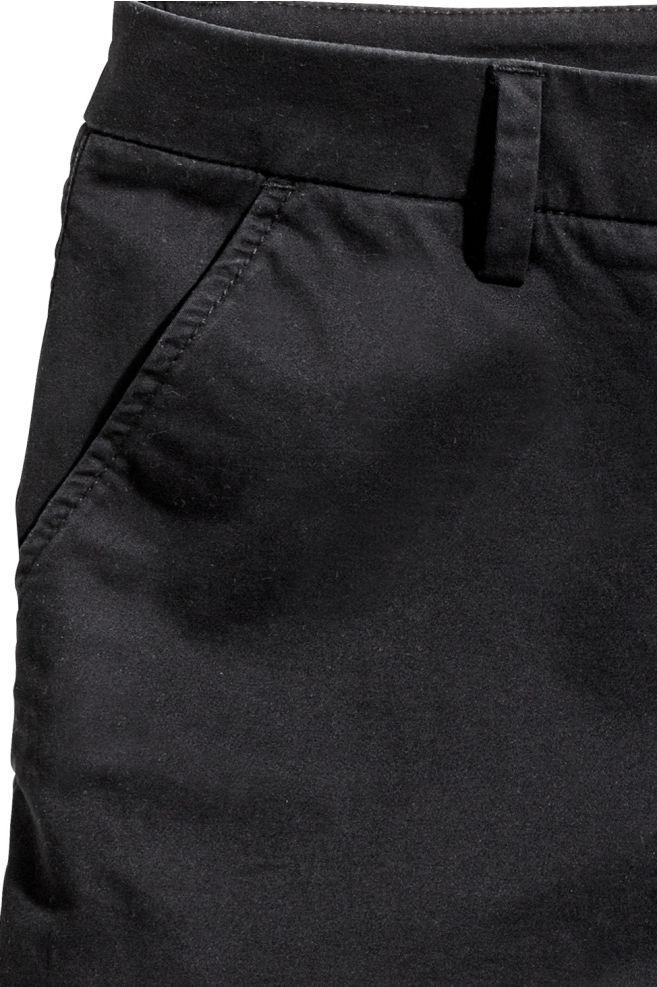 a627b18fef Cotton shorts - Black - Ladies | H&M 2