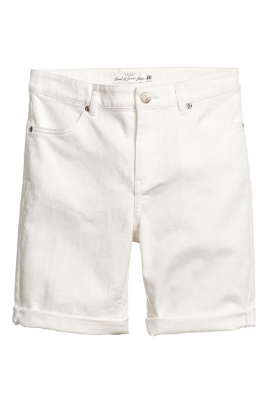 Twill shorts - Natural white - Ladies | H&M
