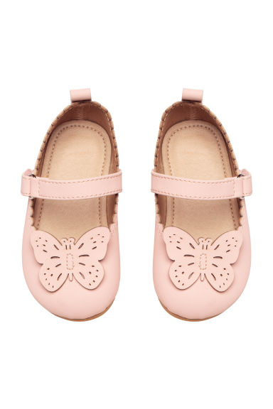Ballet pumps with a strap - Dusky pink -  | H&M CN