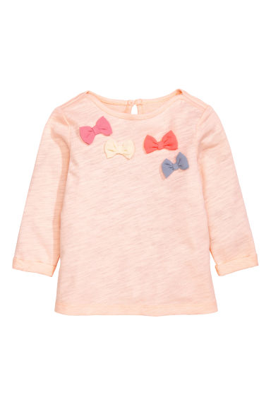 Long-sleeved top - Powder pink - Kids | H&M CN
