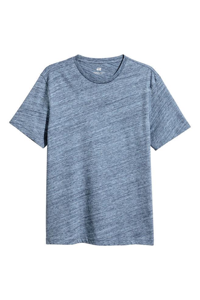 ff8f7a67d929 Round-neck T-shirt Regular fit - Blue marl - Men | H&M ...