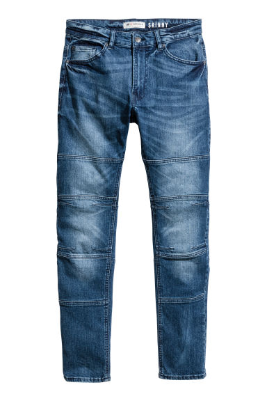 Skinny Tapered Jeans - Dark denim blue -  | H&M