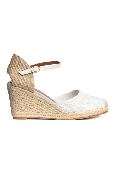 Wedge-heel shoes - White - Ladies | H&M GB