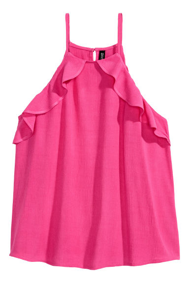 Frilled strappy top - Cerise -  | H&M CN