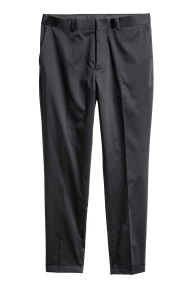 Suit trousers Skinny fit - Black - Men | H&M
