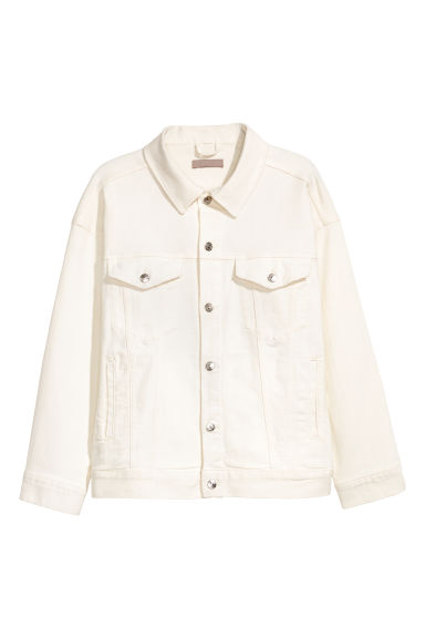 H&M+ Denim jacket - White denim - Ladies | H&M