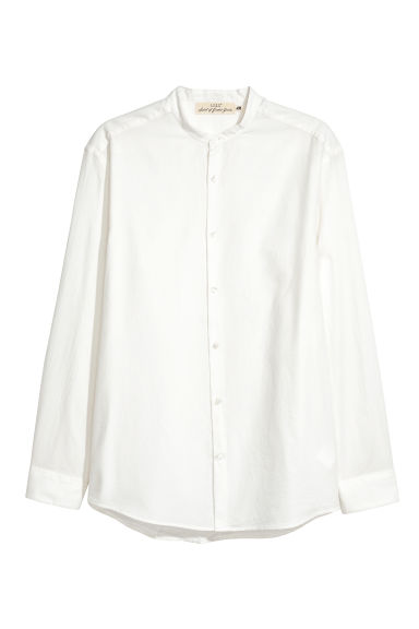 Chemise à col mao Regular fit - Blanc -  | H&M FR