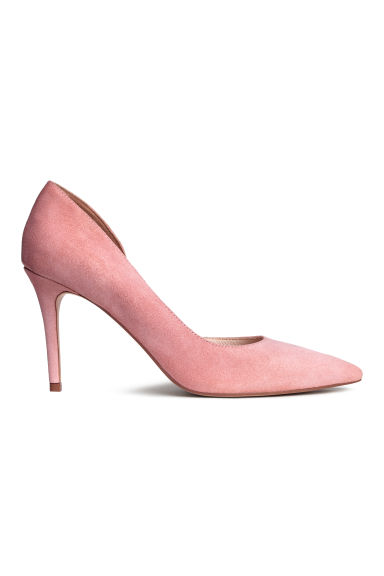 Suede court shoes - Powder pink -  | H&M CN