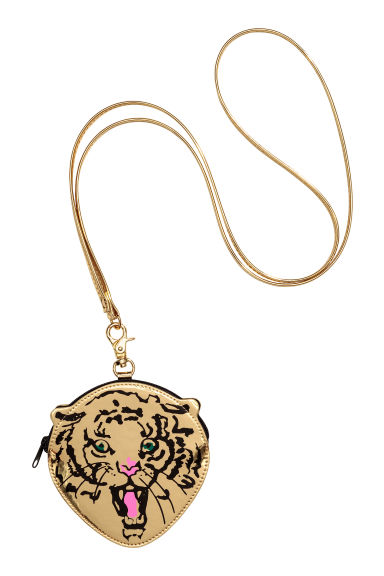 Pouch bag with shoulder strap - Gold/Tiger - Ladies | H&M GB