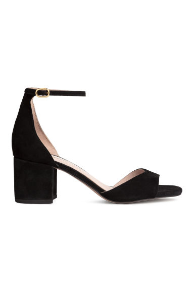 Suede sandals - Black - Ladies | H&M GB