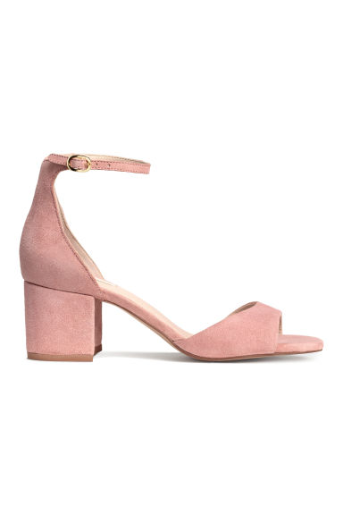 Suede sandals - Powder pink - Ladies | H&M GB