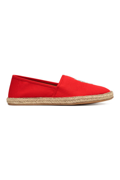 Espadrilles with an appliqué - Red -  | H&M GB