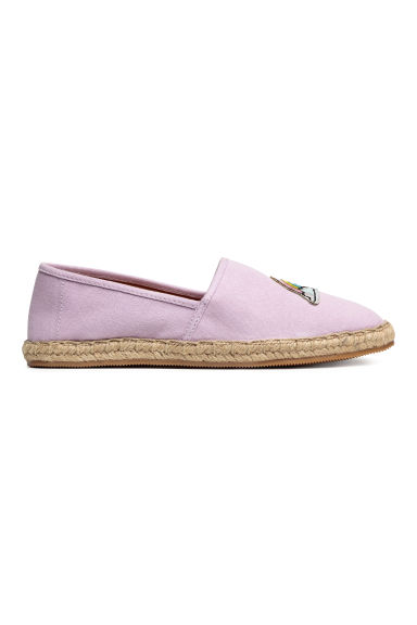 Espadrilles with an appliqué - Lilac - Ladies | H&M
