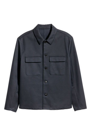 Twill shirt jacket - Dark blue - Men | H&M