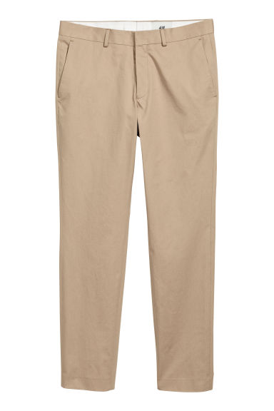 Cotton twill chinos - Beige -  | H&M GB