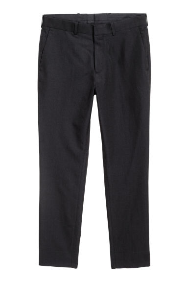 Wool-blend chinos - Black - Men | H&M