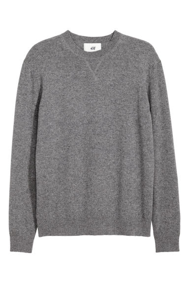 Cashmere jumper - Dark grey marl - Men | H&M GB