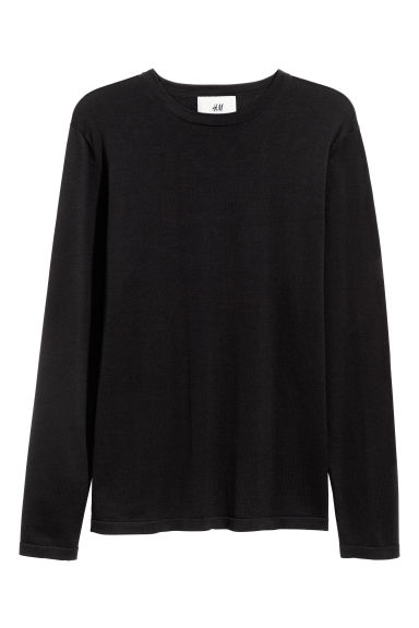Silk-blend jumper - Black -  | H&M IE