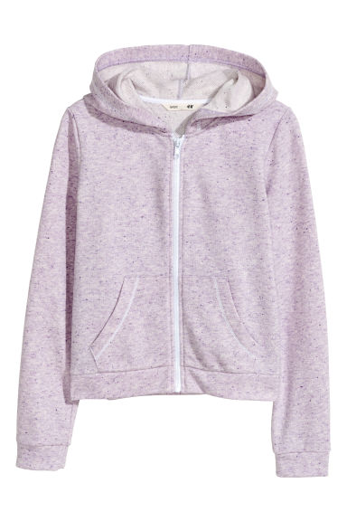Hooded jacket - Light purple marl - Kids | H&M CN