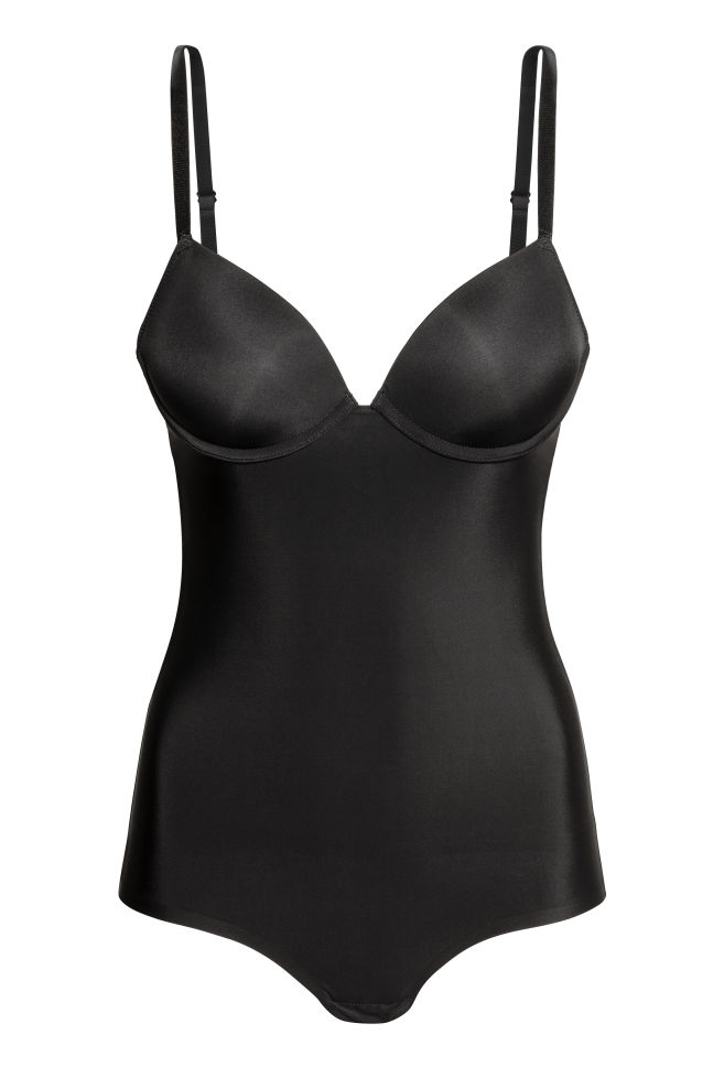 65d46b56b554a Моделирующее боди - Черный - Женщины | H&M ...