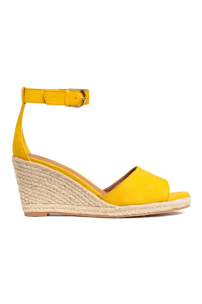 7775d2ee48 Wedge-heel sandals - Yellow - Ladies | H&M ...