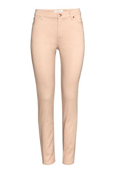Ankle-length trousers - Light beige -  | H&M