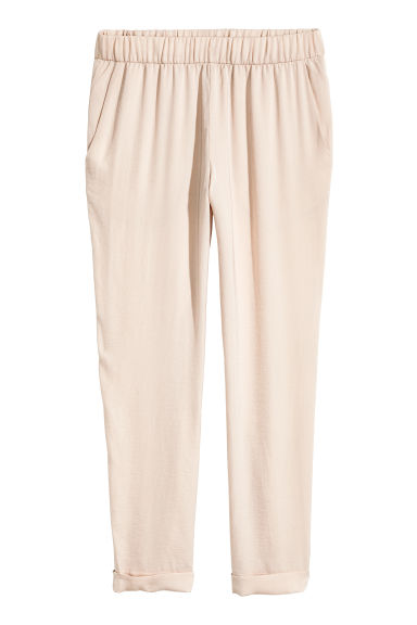 Pull-on trousers - Light beige - Ladies | H&M
