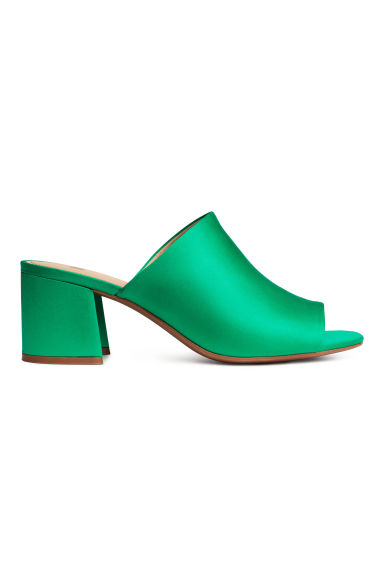 Mules - Green - Ladies | H&M