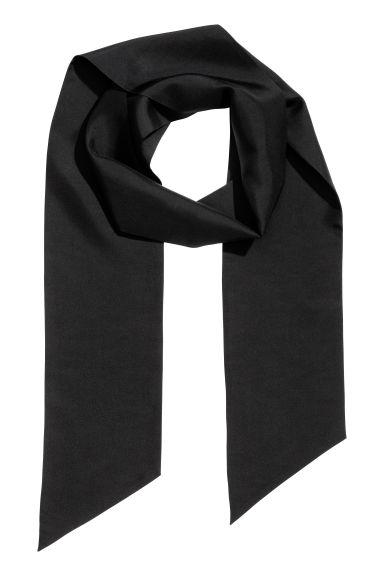 722e80d552f Smalt silketørklæde - Sort - HERRE | H&M DK
