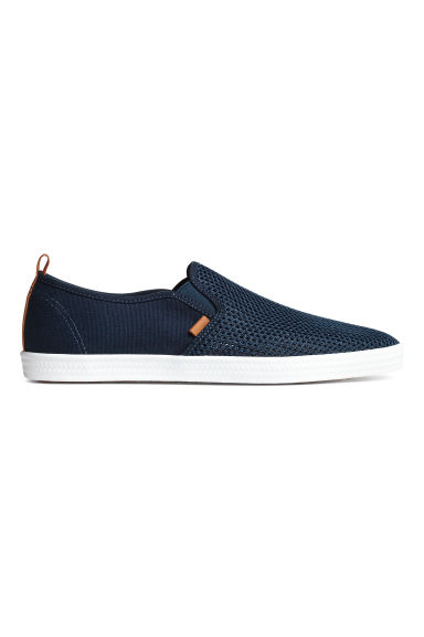 Slip-on trainers - Dark blue - Men | H&M