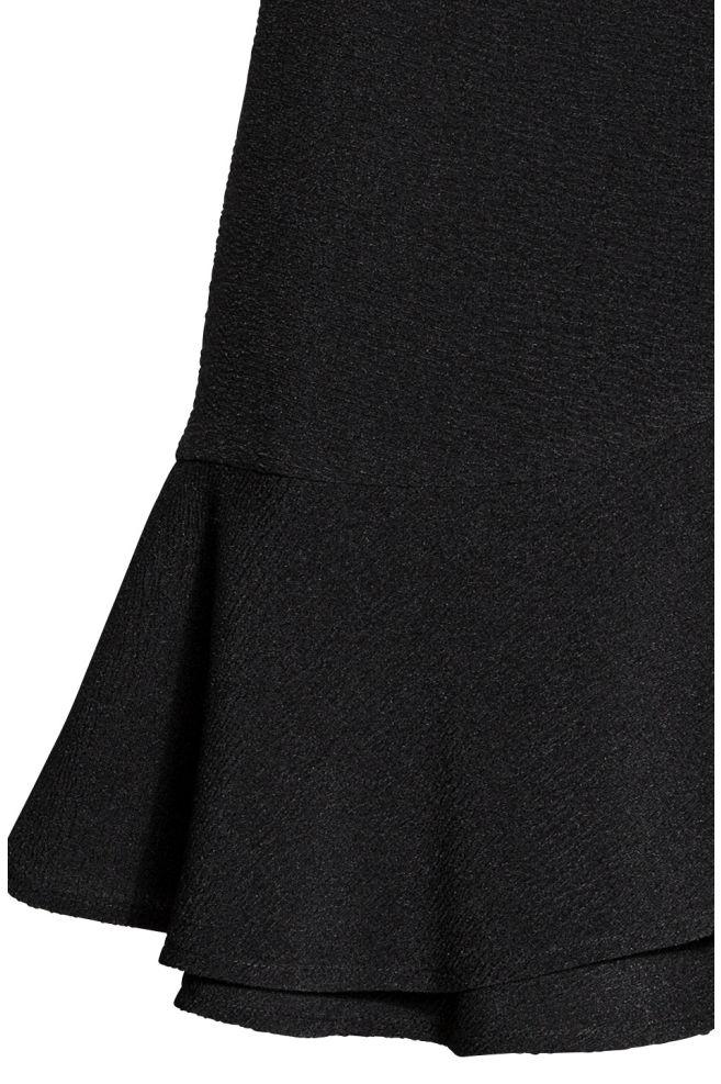 757445f65 ... Flounced wrap skirt - Black -   H&M ...