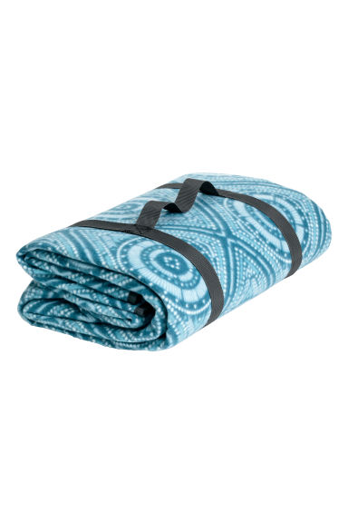Patterned picnic blanket - Turquoise - Home All | H&M CA