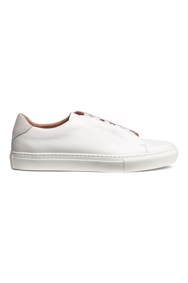 5402d04300d Leren sneakers - Wit - HEREN | H&M ...