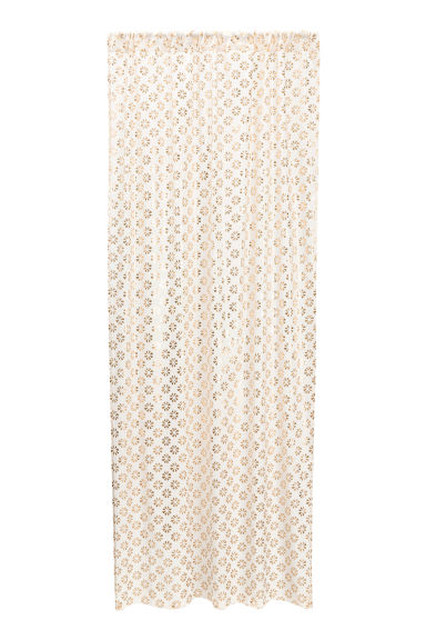 Patterned curtain length - White/Gold - Home All | H&M GB