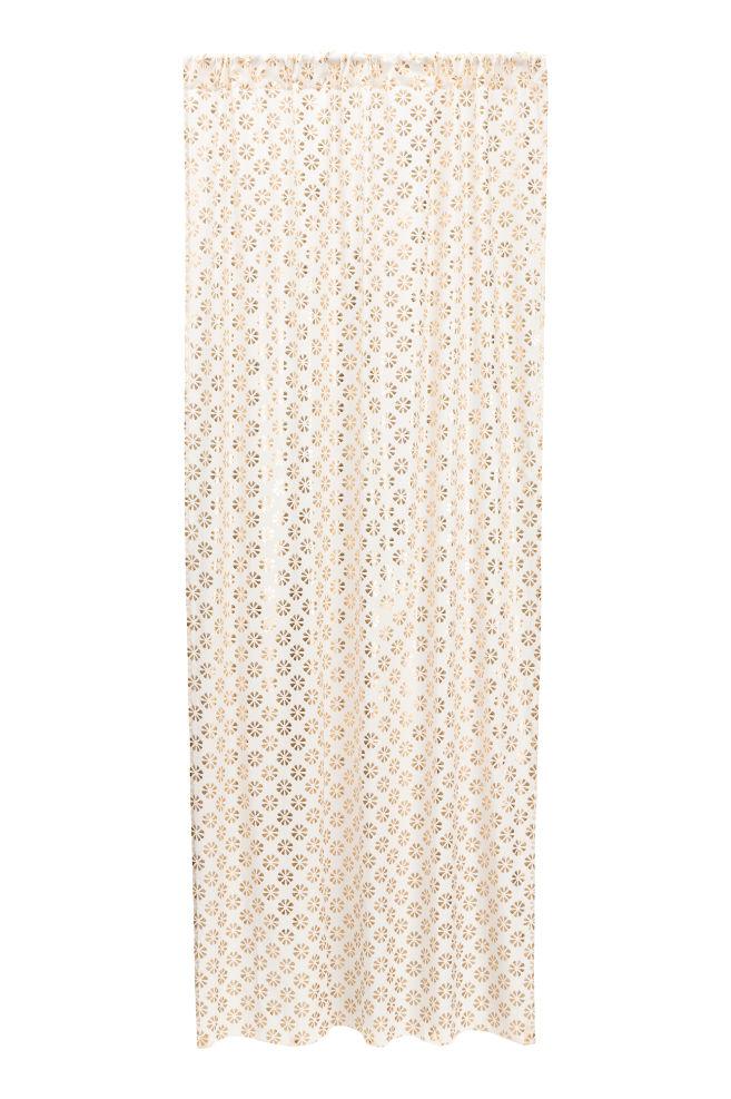 gordijn met dessin witgoudkleurig home hm