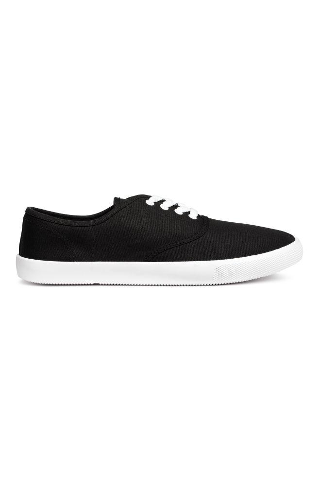 5aaeb420 Płócienne buty sportowe - Czarny - ON | H&M ...