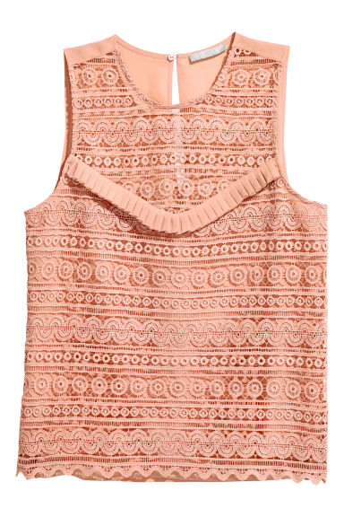 Sleeveless blouse - Powder pink - Ladies | H&M CN