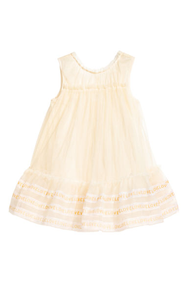Tulle dress - Natural white -  | H&M