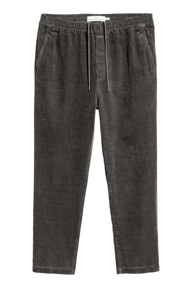 ede804a866 Kordbársony nadrág - Sötétszürke - FÉRFI | H&M ...